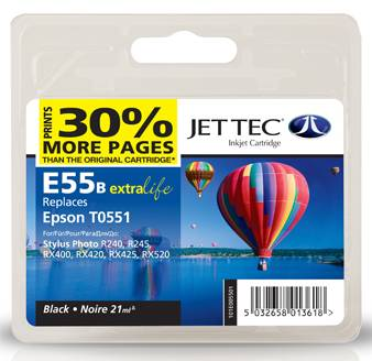 Jettec Black Compatible for Epson Stylus Photo RX400 · RX420 · RX425 · RX520 · R240