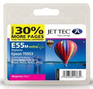 Jettec Magenta Compatible Cartruidge for Epson Stylus Photo RX400 · RX420 · RX425 · RX520 · R240